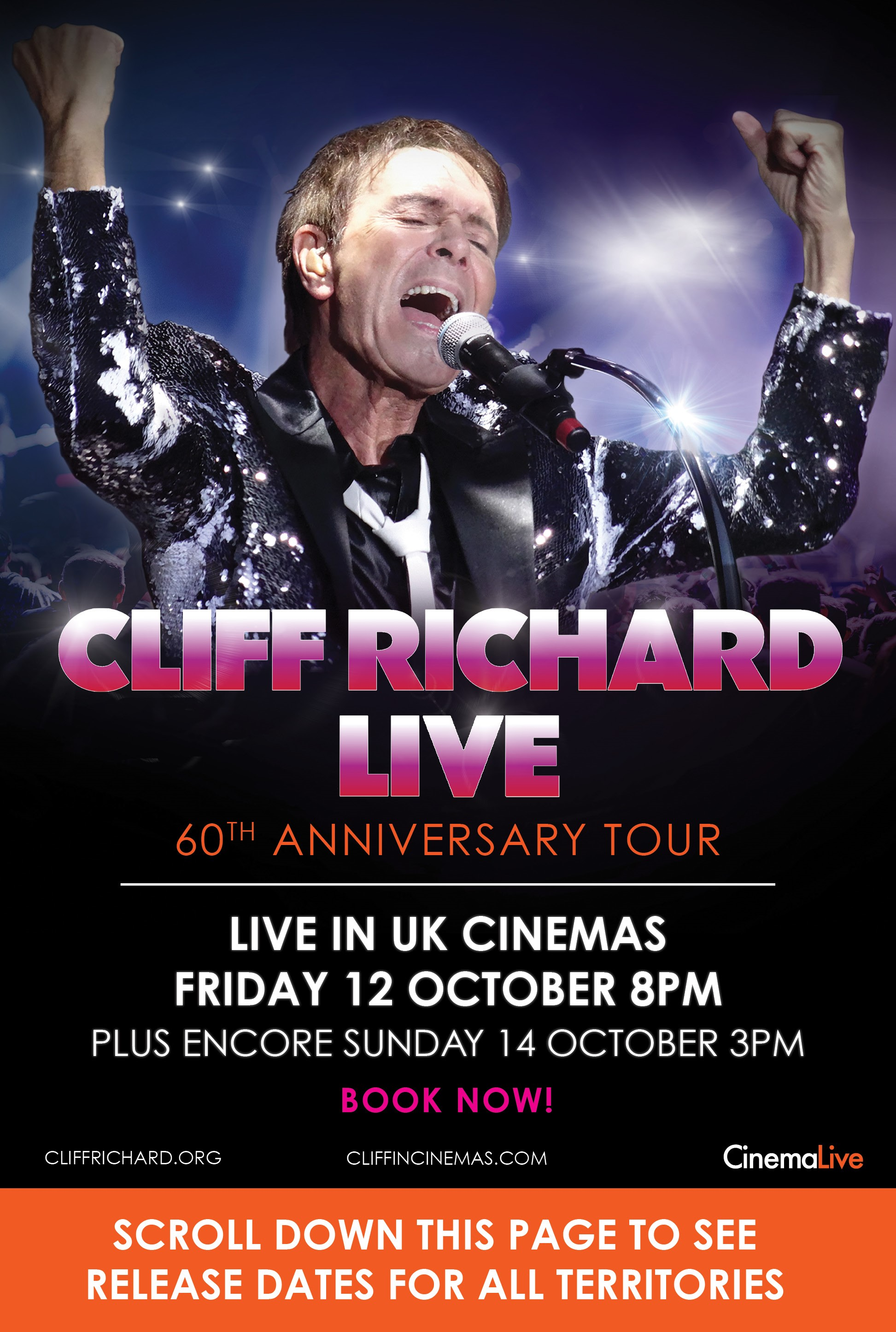 Cliff Richard Live: 60th Anniversary Tour cover