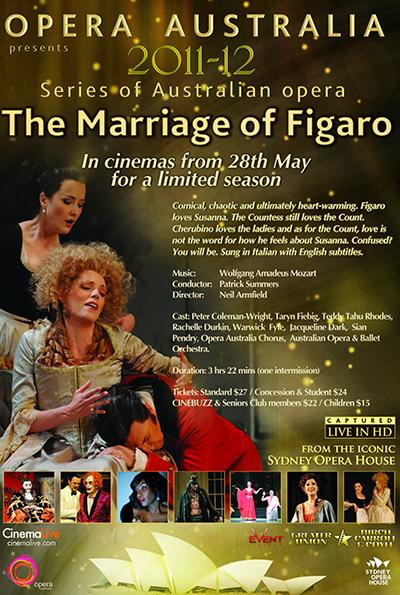 Opera Australia: The Marriage of Figaro cover